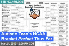 Autistic Teen's NCAA Bracket Perfect Thus Far