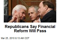Republicans Say Financial Reform Will Pass