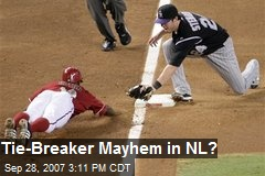 Tie-Breaker Mayhem in NL?