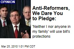 Anti-Reformers, We Dare You to Pledge: