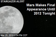 Mars Makes Final Appearance Until 2012 Tonight