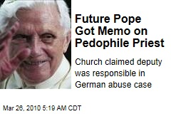 Future Pope Got Memo on Pedophile Priest
