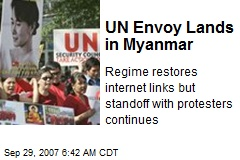 UN Envoy Lands in Myanmar