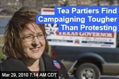 Tea Partiers Find Campaigning Tougher Than Protesting