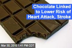 Chocolate Linked to Lower Risk of Heart Attack, Stroke