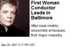 First Woman Conductor Leads in Baltimore