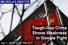Tough-Guy China Shows Weakness in Google Fight