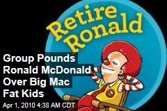 Group Pounds Ronald McDonald Over Big Mac Fat Kids