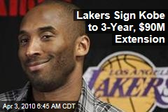 Lakers Sign Kobe to 3-Year, $90M Extension