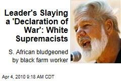 Leader's Slaying a 'Declaration of War': White Supremacists