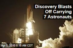 Discovery Blasts Off Carrying 7 Astronauts