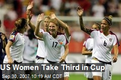 US Women Take Third in Cup