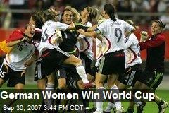 German Women Win World Cup