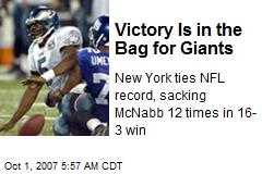 Victory Is in the Bag for Giants