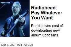 Radiohead: Pay Whatever You Want