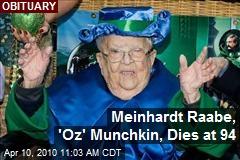 Meinhardt Raabe, 'Oz' Munchkin, Dies at 94