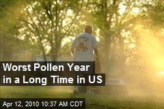 Worst Pollen Year in a Long Time in US