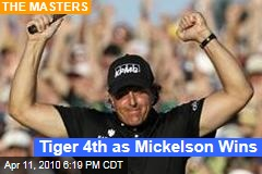 Tiger 4th as Mickelson Wins