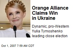Orange Alliance Claims Win in Ukraine