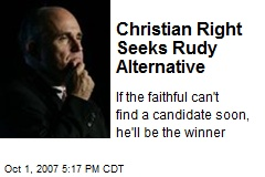 Christian Right Seeks Rudy Alternative