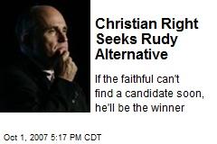 Christian Right Seeks Rudy Alternative