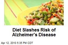 Diet Slashes Risk of Alzheimer's Disease