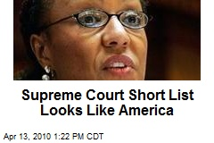 Supreme Court Short List Looks Like America