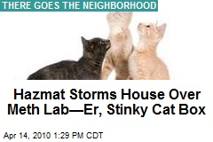 Hazmat Storms House Over Meth Lab—Er, Stinky Cat Box