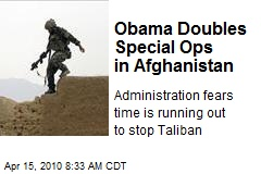 Obama Doubles Special Ops in Afghanistan