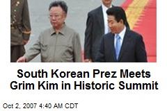 South Korean Prez Meets Grim Kim in Historic Summit