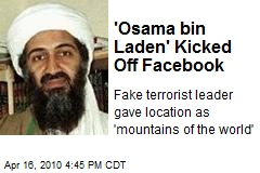 'Osama bin Laden' Kicked Off Facebook