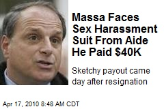 Massa Faces Sex Harassment Suit From Aide He Paid $40K