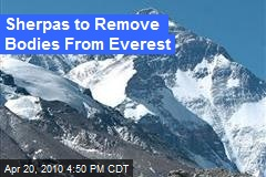 Sherpas to Remove Bodies From Everest