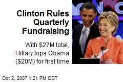 Clinton Rules Quarterly Fundraising