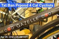 Txt Ban Prposd 4 Cal Cyclists