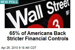 65% of Americans Back Stricter Financial Controls