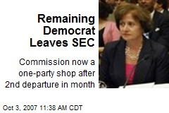 Remaining Democrat Leaves SEC