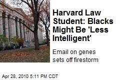 Harvard Law Student's Racist Email Goes Viral