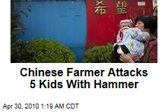 Chinese Farmer Attacks 5 Kids With Hammer