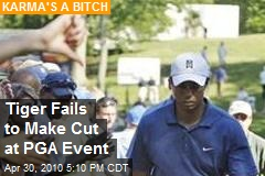 Tiger Fails to Make Cut at PGA Event