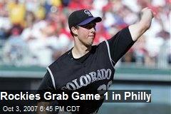 Rockies Grab Game 1 in Philly