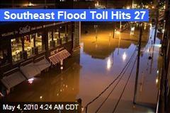 Southeast Flood Toll Hits 27