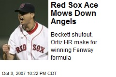 Red Sox Ace Mows Down Angels
