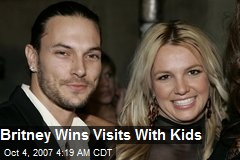 Britney Wins Visits With Kids
