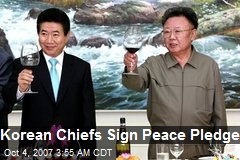 Korean Chiefs Sign Peace Pledge