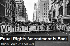 Equal Rights Amendment Is Back