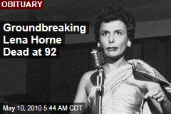 Groundbreaking Lena Horne Dead at 92