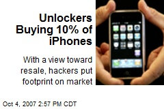 Unlockers Buying 10% of iPhones