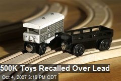 500K Toys Recalled Over Lead