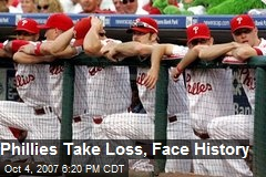Phillies Take Loss, Face History